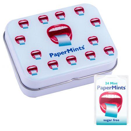 Metal tin Papermints 6 units
